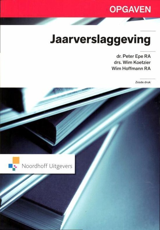 Boek cover Jaarverslaggeving Opgaven van P. Epe (Paperback)