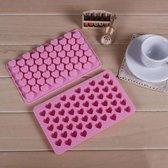 Siliconen Mini Hartjes Ijs en Chocolade vormpjes