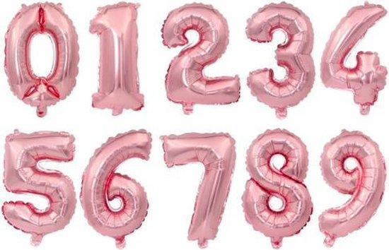 XL Folie Ballon (8) - Helium Ballonnen – Folie ballonen - Verjaardag - Speciale Gelegenheid  -  Feestje – Leeftijd Balonnen – Babyshower – Kinderfeestje - Cijfers - Champagne Rose