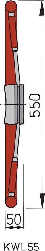 VETUS KWL55 RVS Stuurwiel met mahoniehouten Spaken en Hoepel Ø 55 cm