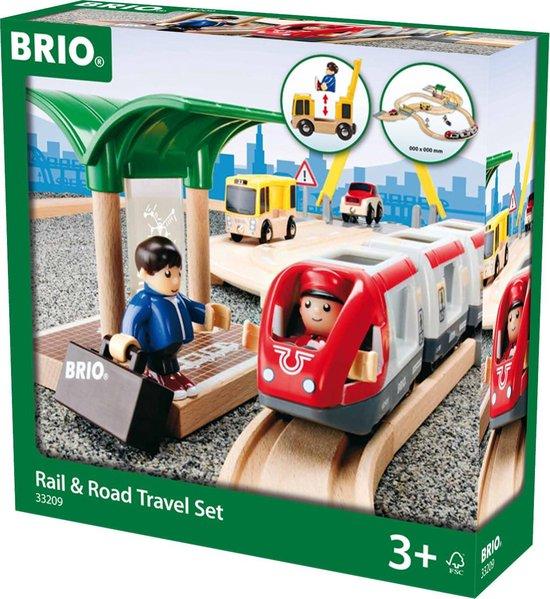 BRIO Spoor & weg reisset - 33209