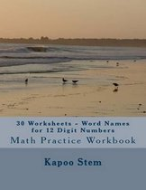 30 Worksheets - Word Names for 12 Digit Numbers