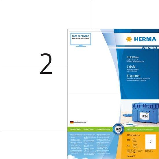 Herma Labels white 210x148 SuperPrint 400 pcs.