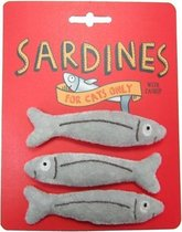 Happy Meow Catnip Speelgoed Sardines - 10 x 2 cm - 3 Stuks