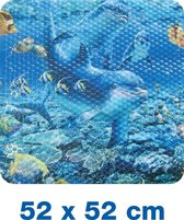 Papillon antislip douchemat Dolfijn - 52x52 cm pvc