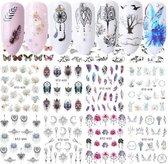 40 velletjes 3d nagelstickers / nail art / diverse motiefjes