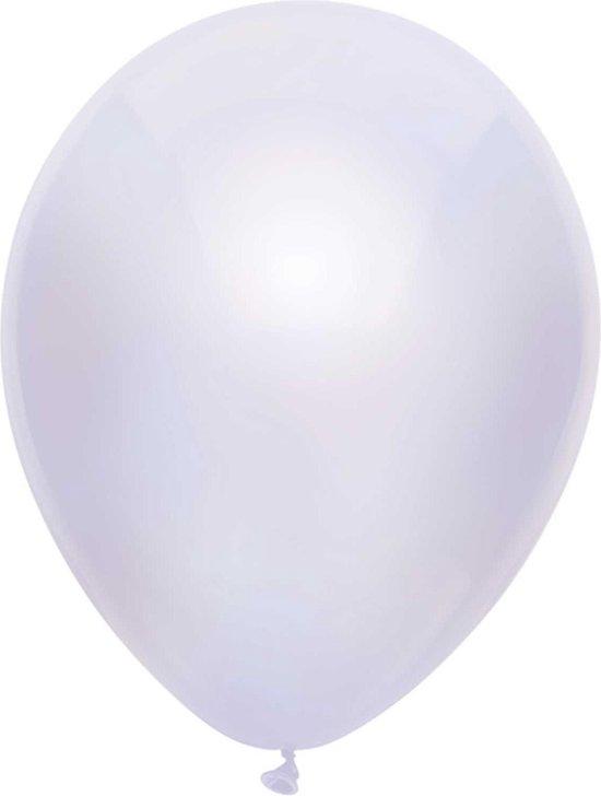 Haza Original Ballonnen Metallic Wit 10 Stuks