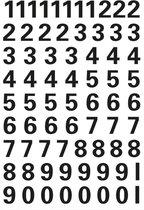 Herma 4159 Etiket met getallen 0-9 10mm Zwart-Transparant - 1 pakje met 1 velletje