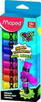 COLOR'PEPS plakkaatverf ultra uitwasbaar - assorti kleuren - tubes à 12 ml - in kartonnen doos x 12