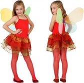 Vlinder kostuum voor kinderen rood 104 (3-4 jaar)