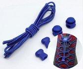 Elastische veters, hardloopveters, lock laces - ideaal voor sport, kinderen, volwassenen of ouderen! - 2 veters - blauw