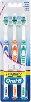 Oral-B tandenborstel 1-2-3 Multipak 3 stuks