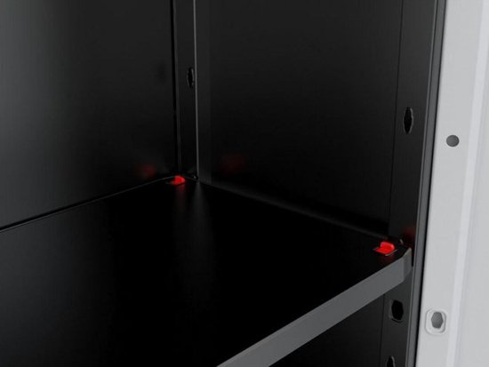 Kis Linear Opbergkast hoog - 68x173x39 cm - Grijs/Zwart - Kis