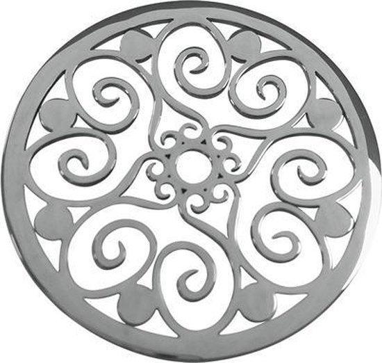 LOCKits 982500681 - Stalen munt - fantasie harten - 25-1 mm - zilverkleurig