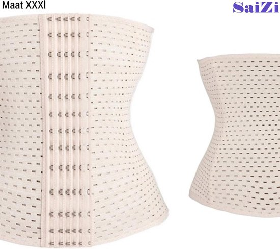 Saizi beige /Waist Trainer - XXXL - Buik Korset Belt - Body Shaper Trimmer Corset Band - Shapewear