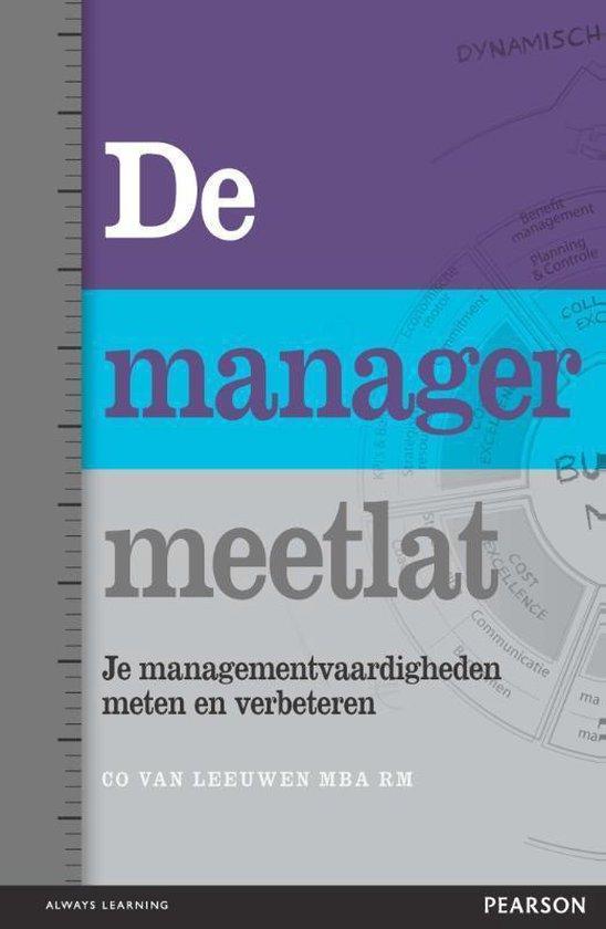 Cover van het boek 'De managermeetlat' van Co van Leeuwen