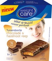 Weight Care snack reep chocolade-hazelnoot - 8 stuks