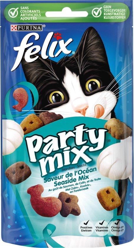 Felix Snack Party Mix Seaside - Kattensnack - 1 x 60 g