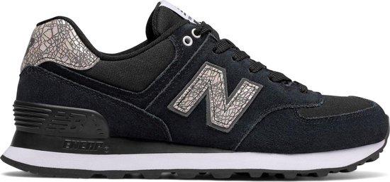 New Balance 574 Classics Traditionnels Sneakers - Maat 38 - Vrouwen -  zwart/zilver/wit