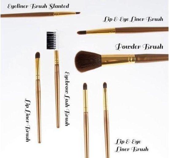 Visagie Kwastenset -Goud- 7 delig - Make-up Kwastenset - Laboratoire Perfection