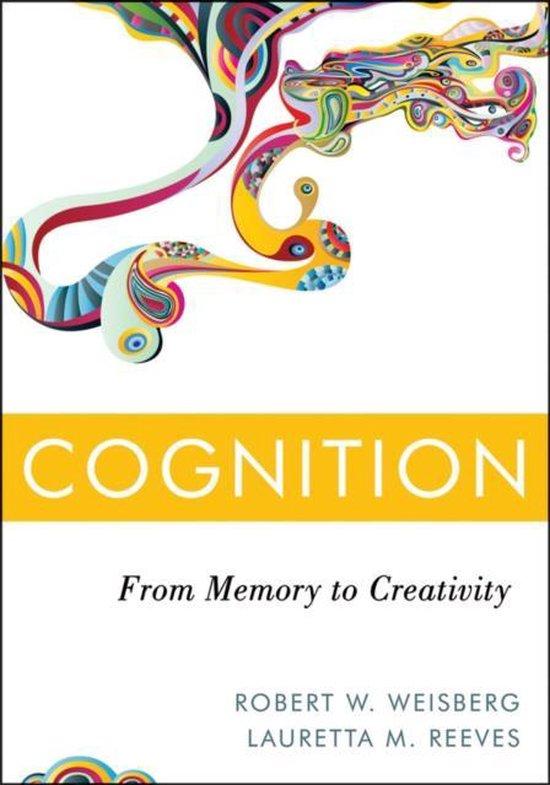 Boek cover Cognition van Robert W. Weisberg (Hardcover)