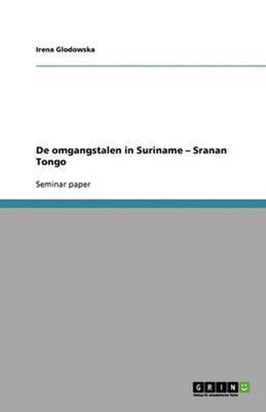 De omgangstalen in Suriname - sranan tongo - Irena Glodowska | Readingchampions.org.uk