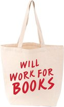 Will Work For Books Tote