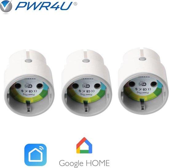 Smart plug - Set van 3 - Slimme stekker - Te koppelen met Google Home of Alexa - Nederlandse handleiding
