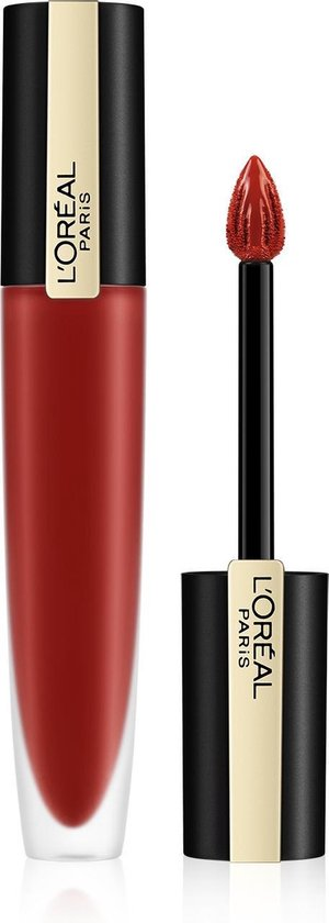 L'Oréal Paris Rouge Signature Lippenstift - 115 I Am Worth It - Rood - Matte Vloeibare Lipstick