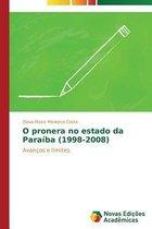 O Pronera No Estado Da Paraiba (1998-2008)