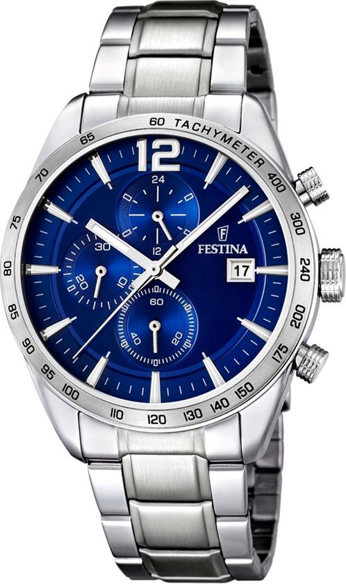Festina F16759/3 Chronograaf - Horloge - Staal - Zilverkleurig - 43.5 mm