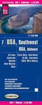 Reise Know-How Landkarte USA 07, Südwest (1:1.250.000) : Arizona, Colorado, Nevada, Utah, New Mexico