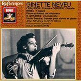 References - Chausson, Debussy, Ravel, et al / Ginette Neveu