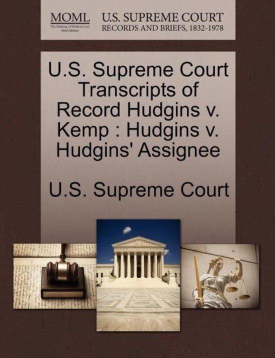 U.S. Supreme Court Transcripts of Record Hudgins V. Kemp