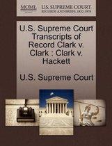 U.S. Supreme Court Transcripts of Record Clark V. Clark