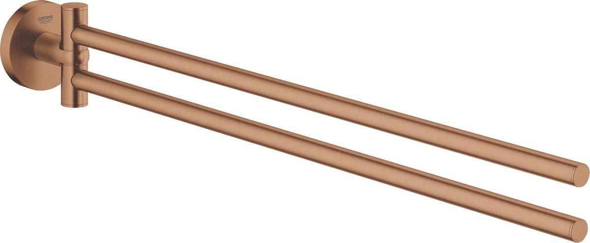 GROHE Essentials handdoekhouder met twee draaibare armen -Sunset gold (mat brons)