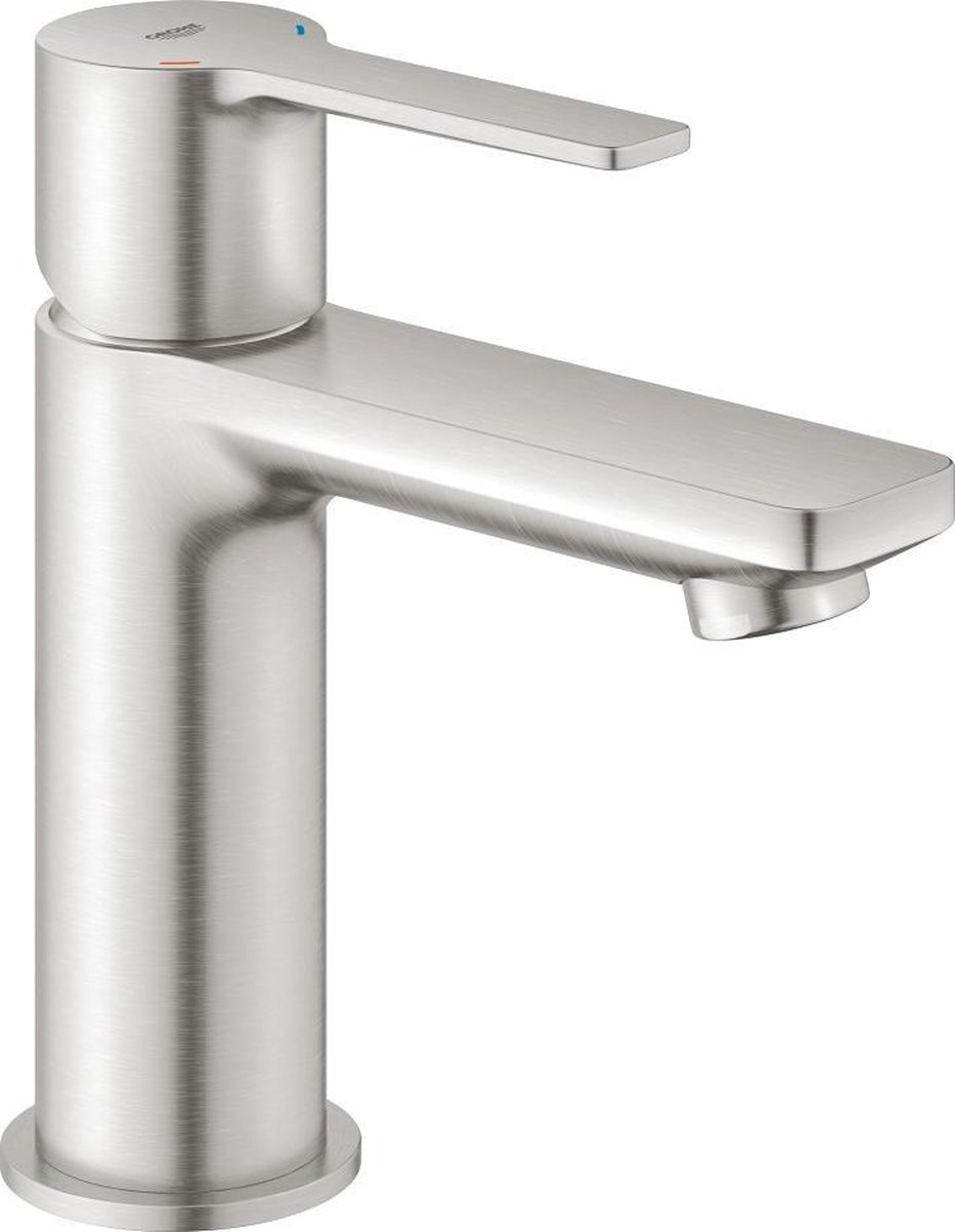 GROHE Lineare New Wastafelkraan XS - Extra lage uitloop - Met push open waste - Supersteel