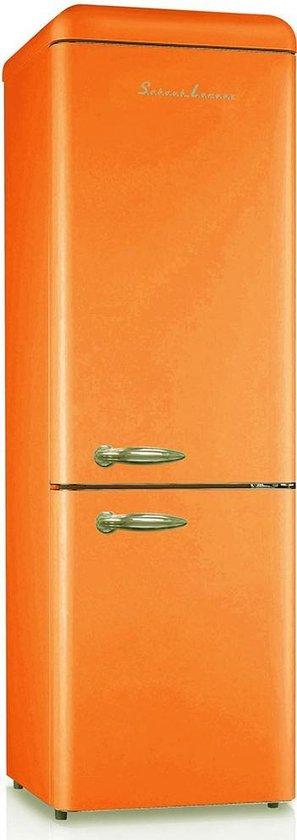Koelkast: Schaub Lorenz Retro SL300O CB - Koel-vriescombinatie - Oranje, van het merk Schaub Lorenz
