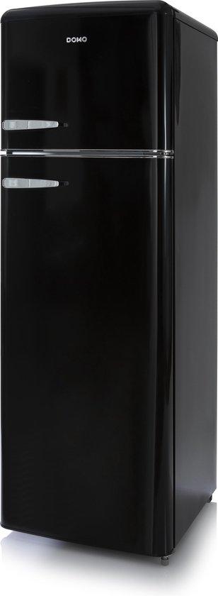 Koelkast: Domo DO929RKZ - Retro Koel-vriescombinatie - Zwart, van het merk Domo