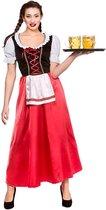 Generik Verkleedkleding Oktoberfest Dirndl Lang Tiroler jurkje Rood - L