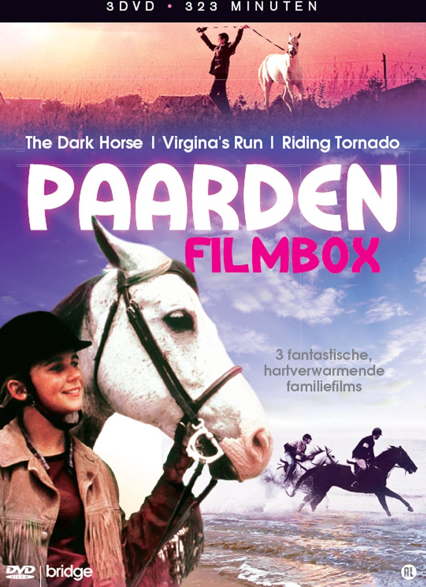 Paarden Filmbox (The Dark Horse – Virginia's Run – Riding Tornado) - 3Xdvd Stackpack