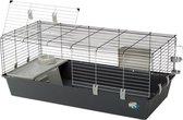 Konijnenkooi voor binnen | Rabbit 120 van Ferplast | donkergrijs 120 cm x 60...