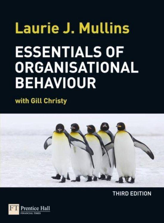 Boek cover Essentials of Organisational Behaviour van Laurie Mullins (Paperback)