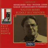 Mendelssohn, Wolf, Pfitzner, Mahler: Lieder
