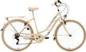 Ks Cycling Fiets 28 inch dames-citybike Casino met 6 versnellingen beige - 54 cm