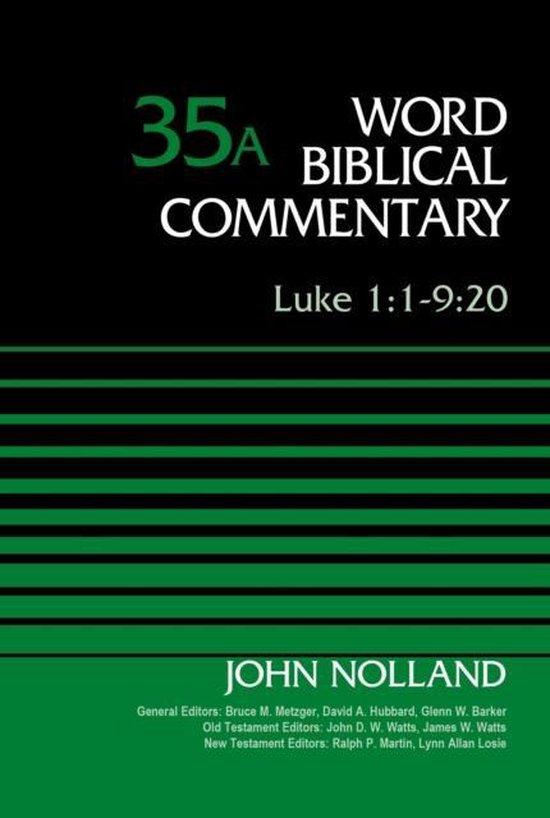 Boek cover Luke 1:1-9 van John Nolland (Hardcover)