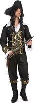 Zwart-goudkleurig piraat kostuum voor mannen - Volwassenen kostuums