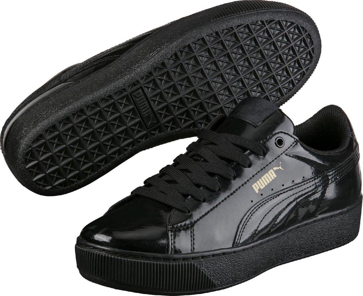 PUMA Sneakers Vikky Platform Patent 364892 02 - Dames - Black-Black - Maat  5.5