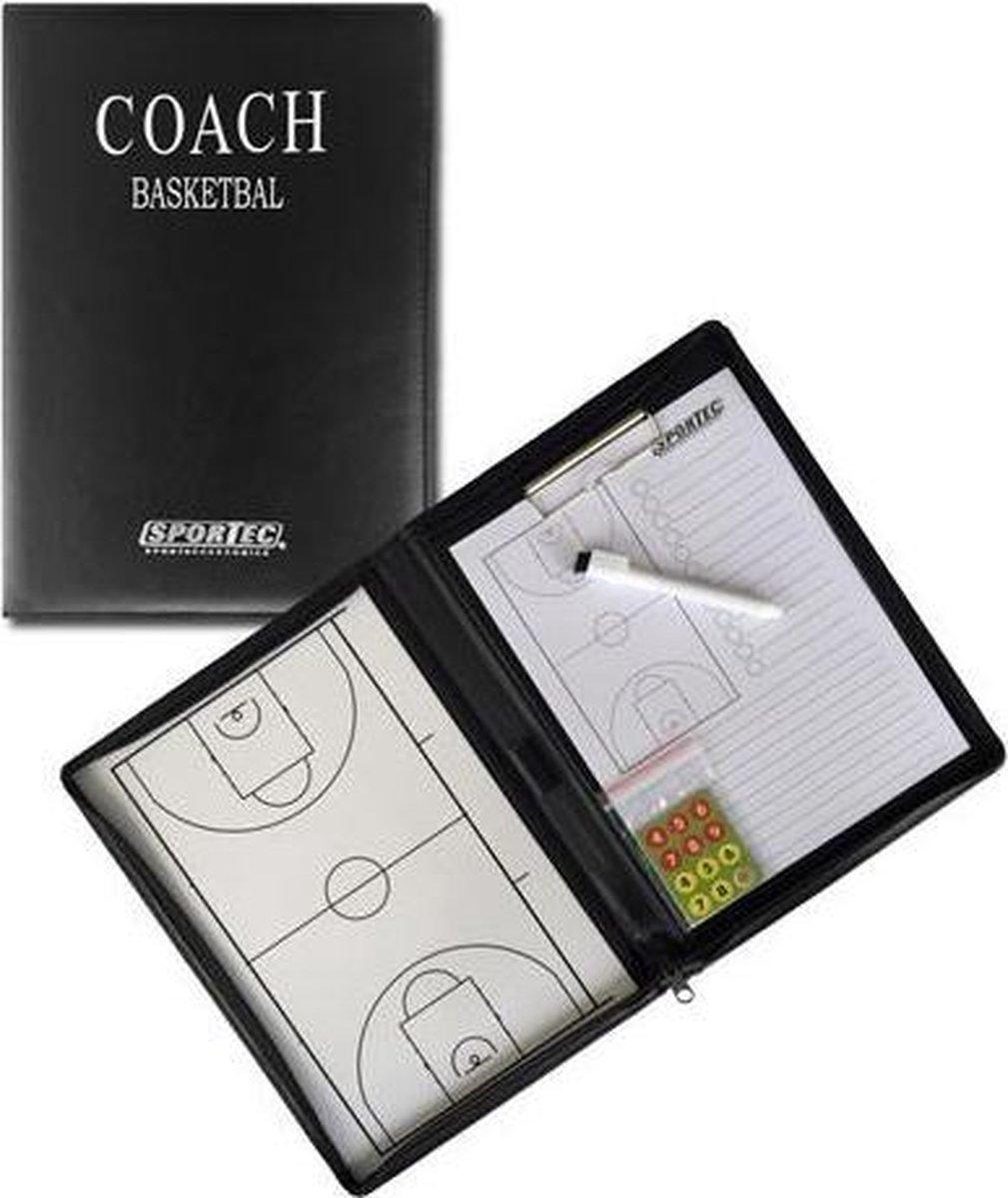 Sportec Coachmap Basketbal Magnetisch 52 X 36 Cm Zwart