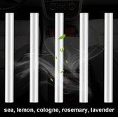Navullers - 5 Stuks - Auto Luchtverfrisser -  luxe design - 5 verschillende geuren: Lavendel, Lemon, Ocean, Cologne, Magnetic